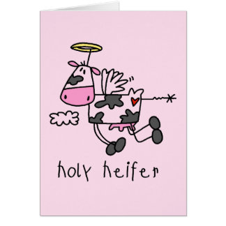 Holy Heifer Tshirts and Gifts Greeting Card
