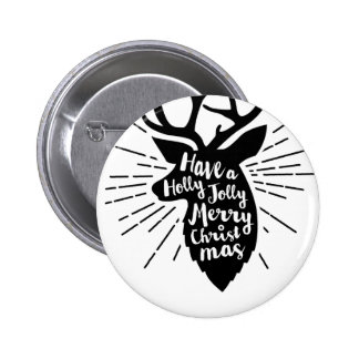 holy joly reindeer 6 cm round badge