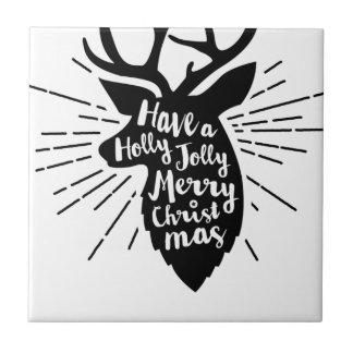holy joly reindeer ceramic tile