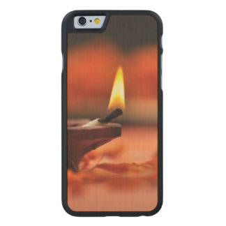 Holy lamp for Diwali festival Carved® Maple iPhone 6 Case