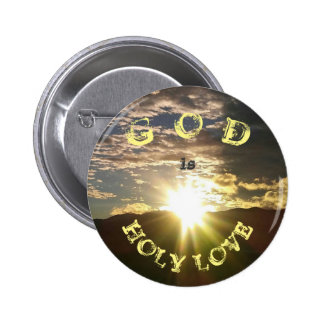 HOLY LOVE 6 CM ROUND BADGE