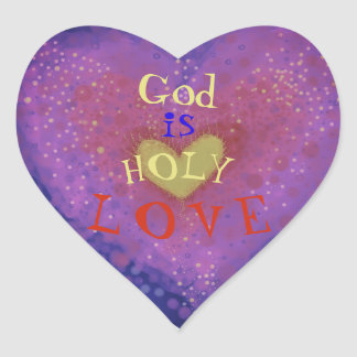Holy Love Heart Sticker