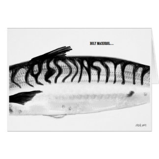 Holy Mackerel Birthday Card
