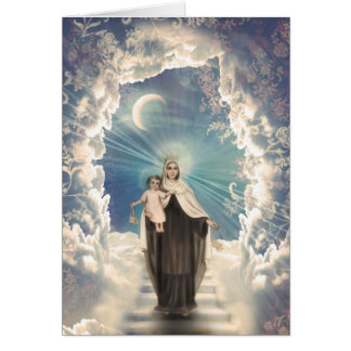 Holy Maria Religious Child Greeting Card