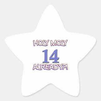 Holy Moly 14 already birthday Design Sticker