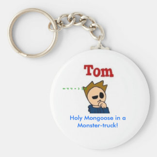 Holy Mongoose in a Monster-truck! Basic Round Button Key Ring