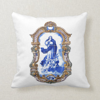 Holy mother Mary immaculate conception photo Throw Pillow