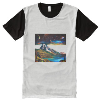 Holy mountain of outer space All-Over print T-Shirt