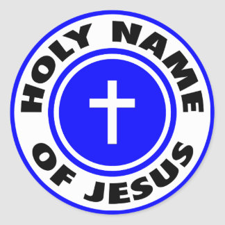 Holy Name of Jesus Classic Round Sticker