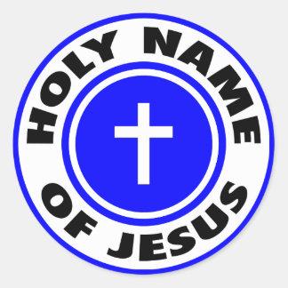 Holy Name of Jesus Round Sticker