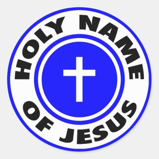 Holy Name of Jesus Round Stickers