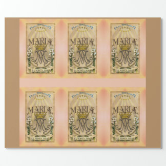 Holy Name of Mary Wrapping Paper