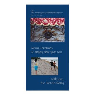 Holy Nativity Customized Photo Card