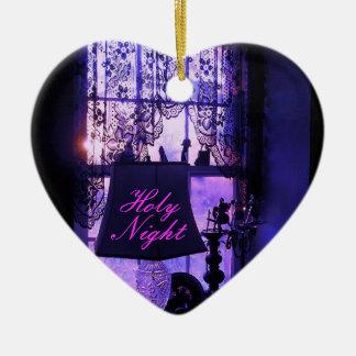 Holy  Night Ceramic Heart Decoration