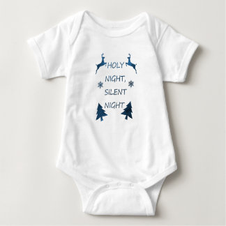 Holy Night, Silent Night Baby Bodysuit