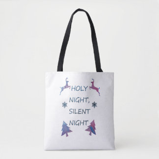 Holy Night, Silent Night Tote Bag