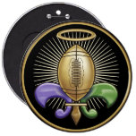 Holy NOLA Trophy (p) Pinback Buttons