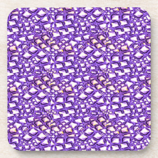 HOLY Purple Healing Energy Pattern Graphic GIFTS Drink Coaster