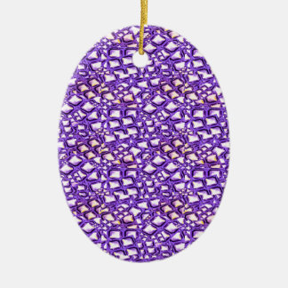 HOLY Purple Healing Energy Pattern Graphic GIFTS Christmas Tree Ornament