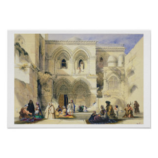 Holy Sepulchre, in Jerusalem (colour litho) Poster