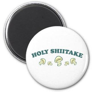 Holy Shiitake 6 Cm Round Magnet