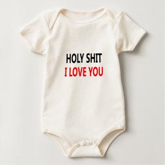 Holy Shit I Love You(1) Baby Bodysuit
