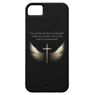 Holy Spirit and Christian Cross with Bible Verse iPhone 5 Case
