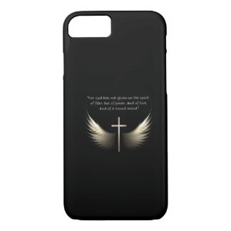 Holy Spirit and Christian Cross with Bible Verse iPhone 7 Case