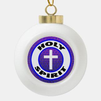 Holy Spirit Ceramic Ball Christmas Ornament