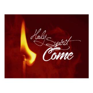Holy Spirit Come Postcard