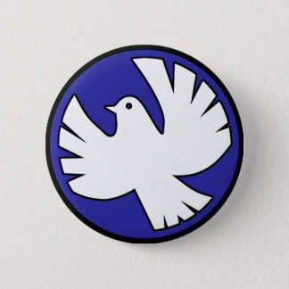 Holy Spirit Dove 6 Cm Round Badge