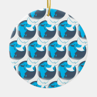 Holy Spirit dove abstract earth blessing Ceramic Ornament