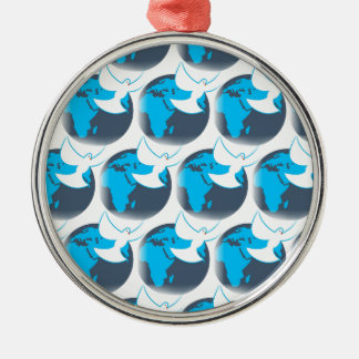 Holy Spirit dove abstract earth blessing Metal Ornament
