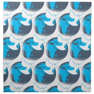 Holy Spirit dove abstract earth blessing Napkin