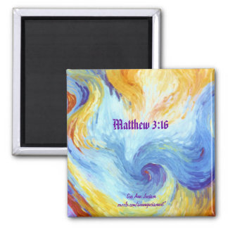 Holy Spirit Dove, Matthew 3:16 Magnet
