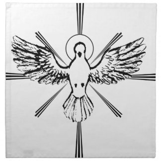 Holy Spirit dove Napkin