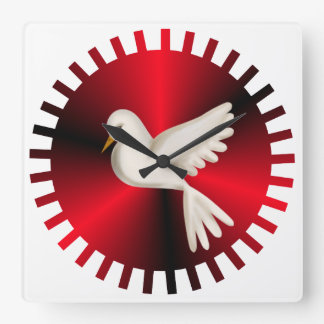 Holy Spirit Dove Square Wall Clock