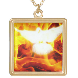 Holy Spirit Gold Plated Necklace