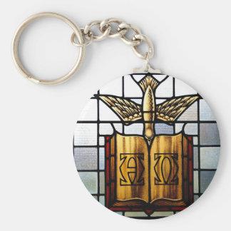 Holy Spirit Jesus is Alpha and Omega Key Ring
