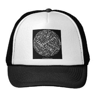 Holy Spirit Wear -Youth Gp. Black circle/white txt Cap