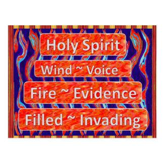 Holy Spirit `~ Wind, Fire, Filled Postcards
