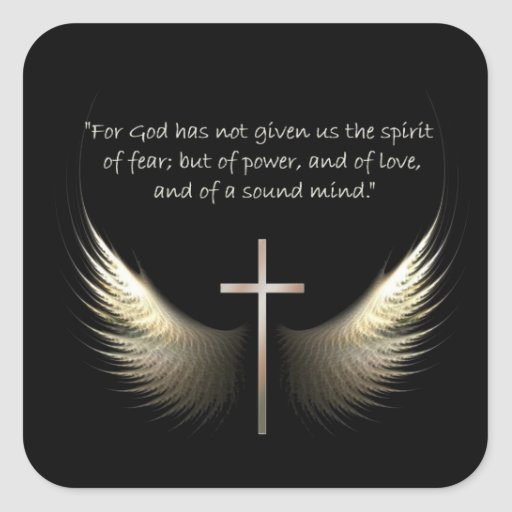 Holy Spirit Wings with Cross and Scripture Verse