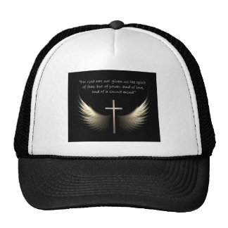 Holy Spirit Wings with Cross and Scripture Verse Trucker Hat