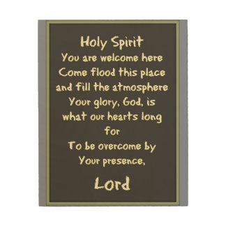 Holy Spirit Wood Prints
