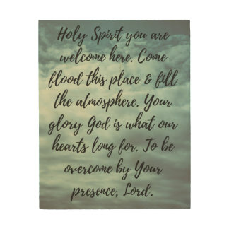 Holy Spirit You Are Welcome Here Wood Wall Art