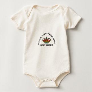 holy three fshg baby bodysuit