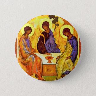Holy Trinity By Rublã«V Andrej (Best Quality) 6 Cm Round Badge