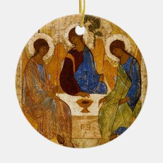 Holy Trinity Icon Rublev Byzantine Catholic Gift Ceramic Ornament