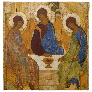Holy Trinity Icon Rublev Byzantine Catholic Gift Napkin