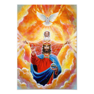 Holy Trinity in Glory 9 Cm X 13 Cm Invitation Card